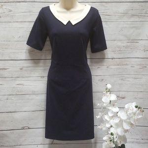 Merona navy collared retro dress